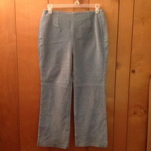 Pants - Baby blue suede pant 12P Real Leather, fully lined